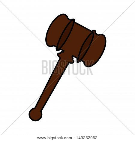 judge gavel isolated icon vector illustration design