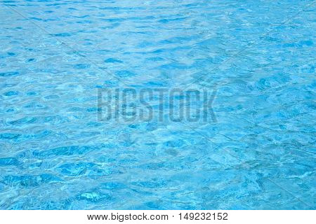 crystal clear water in the sea or pool for travel at summer