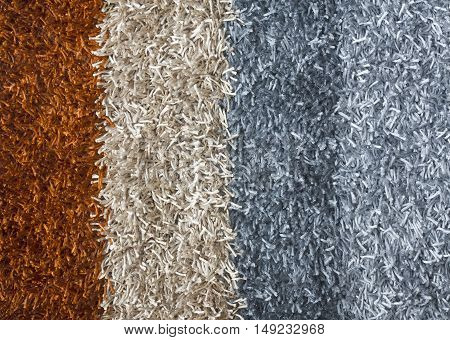 Multicolored luxury carpet for flooring or doormat