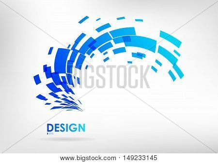 Logo vector design abstract element on a white background