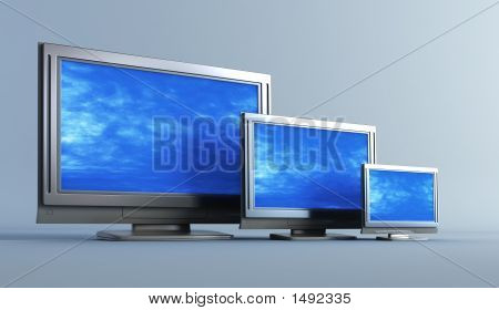 Several Of Plasma Television Set