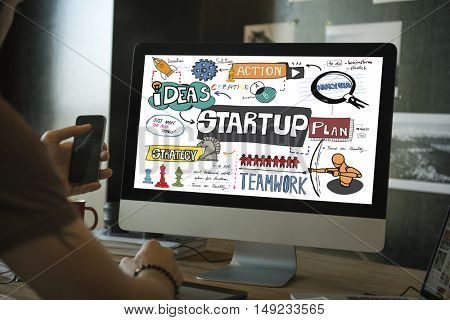 Startup Plan Analysis Graphic Concept