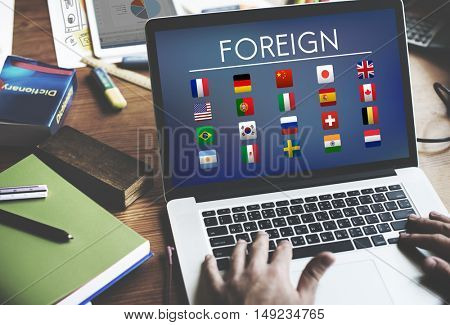 Flag Countries Foreign International Symbol Concept