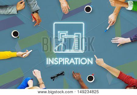 Inspiration Imagination Aspiration Motivate Concept
