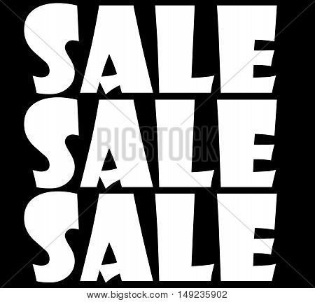 Abstract creative Black Friday winter sale sign scene
