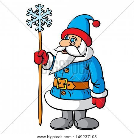 Santa Claus festive character. Merry Christmas