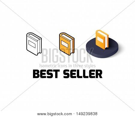 Best seller icon, vector symbol in flat, outline and isometric style