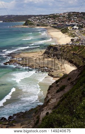 Merewether and Bar Beachs at Newcastle, NSW Australia