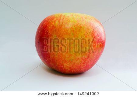 Apple fruit on white background. Indoor object.