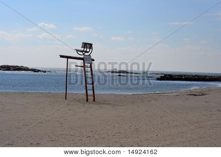 Life Guard Chair on a Peaceful Beach
