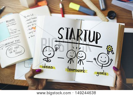 Startup Ideas People Business Planning Graphic Concept
