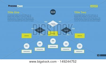 Flow chart slide template. Business data. Graph, diagram, design. Creative concept for infographic, templates, presentation, marketing. Can be used for topics like production, training, recruitment.
