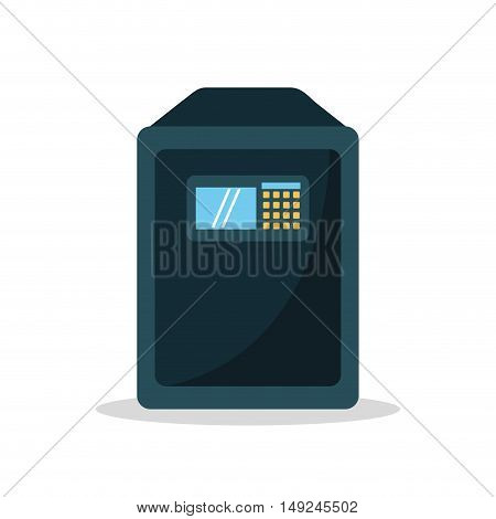 Strongbox icon. Object money and security theme. Isolated design. Vector illustration