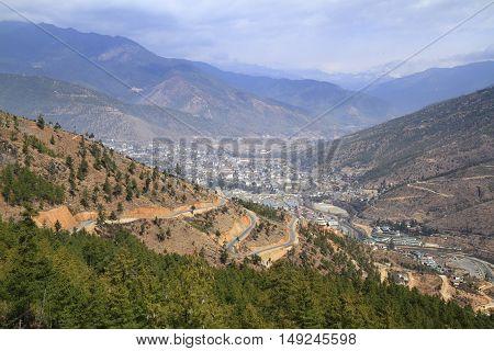 The City Of Thimphu, Bhutan