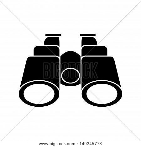 Binocular icon. Object instrument vision and tool theme. Isolated design. Vector illustration