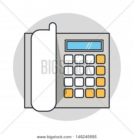cable phone icon. Telephone communication and technology theme. Isolated design. Vector illustration