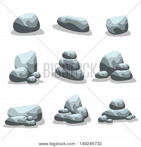 Rock style vector art illustration of silhouette collection