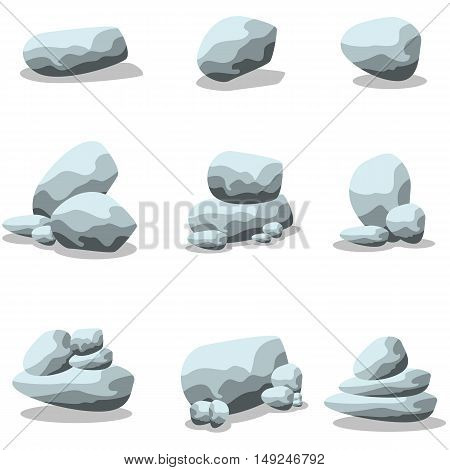Vector silhouette of rock style collection stock