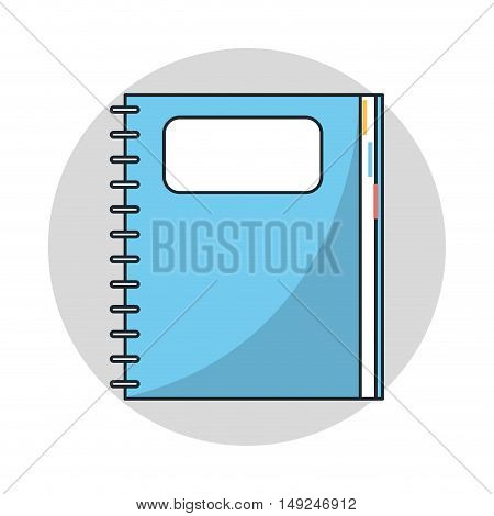 Notebook with label icon.Document and information theme. Isolated design. Vector illustration