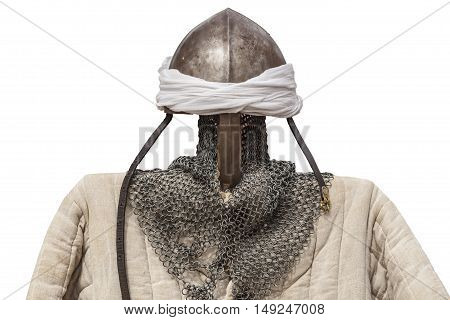 Reconquest moorish warriors armour suits isolated over white background