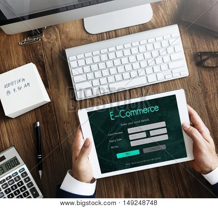 Internet Online Banking Pay Concept