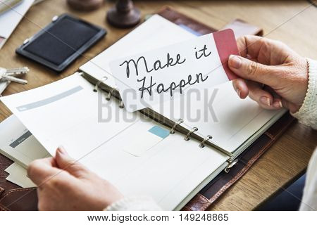 Make It Happen Diary Concept