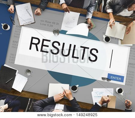 Results Analytics Strategy Solution Business Concept