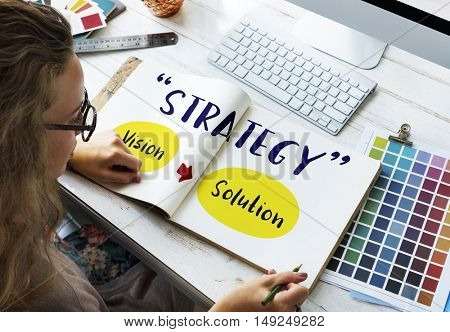 Strategy Success Vision Solution Graphic Concept