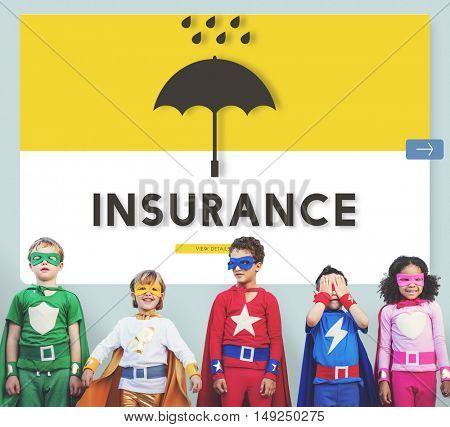 Children Insurance Graphic Design Concept