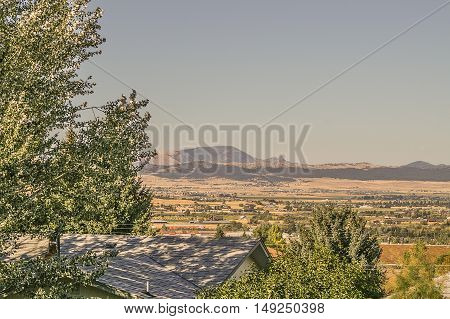 Montana's Sleeping Giant is approximately 20 miles away in this photo taken in Helena.