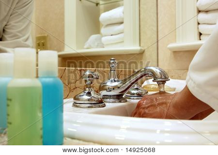 Man in a Luxury Spa or Hotel