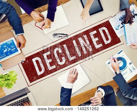 Banned Denied Declined Negative Stamp Concept
