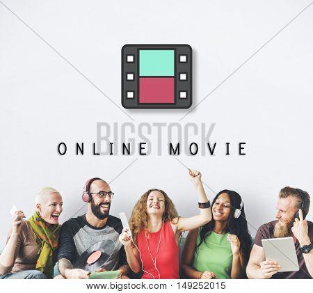 Movie Film Reel Cinema Media Graphic Concept