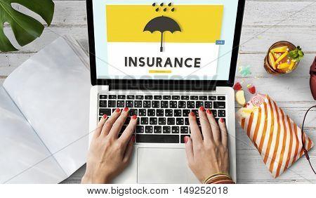 Computer Insurance Social Media Conept