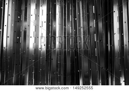 abstract of metal hinge for background used