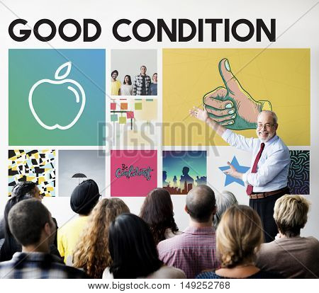 Apple Nutrition Healthcare Well being Concept