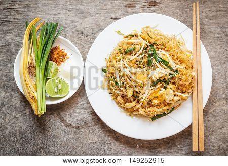 Thai food Pad thai Stir fry noodles in padthai style