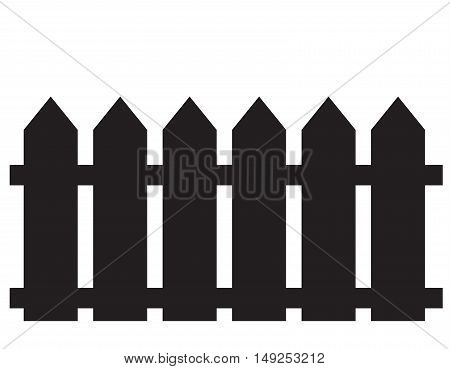 fence icon. fence icon object. fence icon on white background