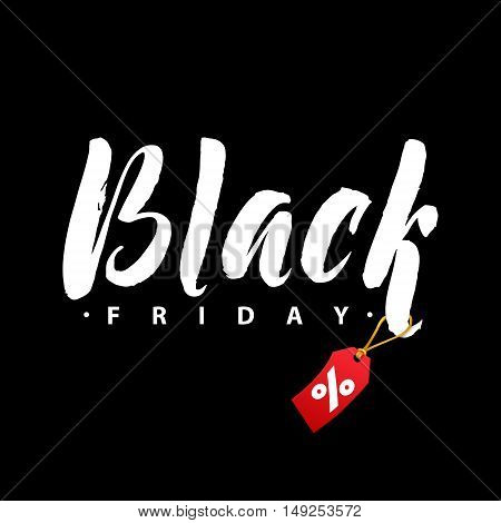Black Friday Sale. Promo Abstract Calligraphic Vector Illustration for your business artwork. Black and White Template. Black Friday Sale handmade lettering, calligraphy with light background for logo, banners, labels