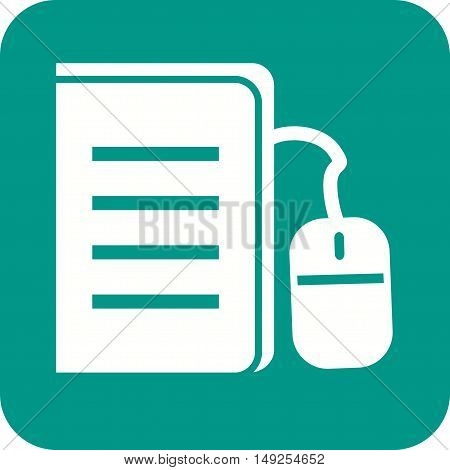 Connect, download, textbook icon vector image. Can also be used for E Learning. Suitable for mobile apps, web apps and print media.