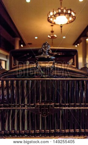 El Segundo, CA, USA - September 26, 2016: 1928 Stutz 8 BB black hawk speedster displayed at the Automobile Driving Museum in El Segundo, California, United States. Editorial use only.