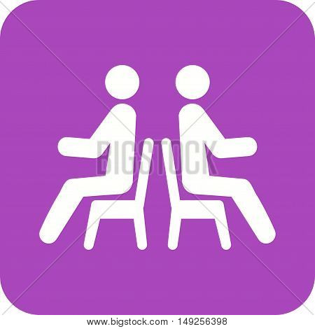 Sitting, people, bench icon vector image. Can also be used for people. Suitable for use on web apps, mobile apps and print media.
