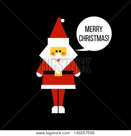 Santa Clause vector illustration. Christmas greeting card.