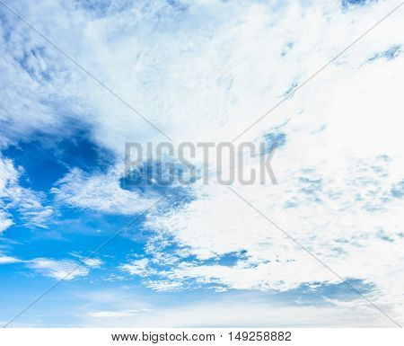 blue sky background and clouds in daylight time