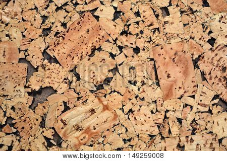Cork wooden abstract backdrop background and texture
