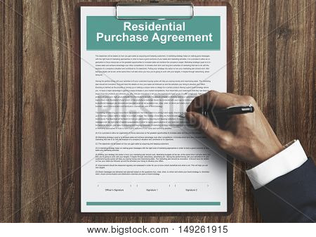 Residential Purchase Agreement Insurance Concept