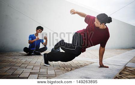 Break dance Freestyle Hip-Hop Street dance Teenager Concept