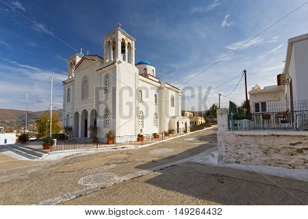 Church in Gavrio village on Andros island.