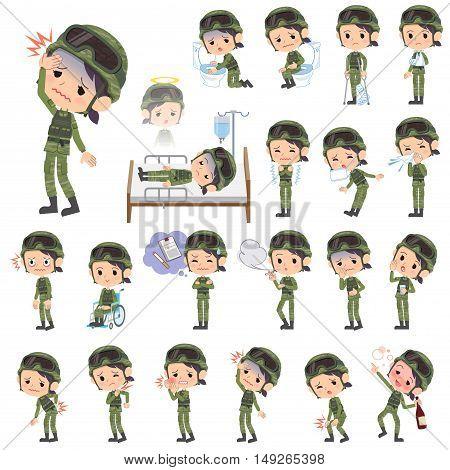 Military Wear Woman Sickness