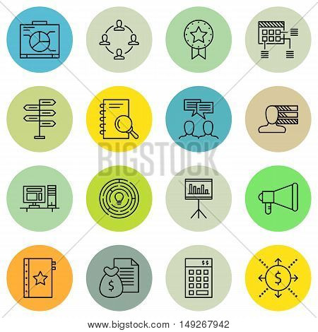 Set Of Project Management Icons On Teamwork, Research, Workspace And More. Premium Quality Eps10 Vec